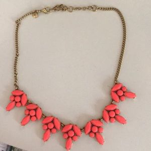 Bright pink J. Crew necklace